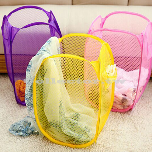 糖果色折疊洗衣籃 髒衣籃 玩具箱收納 置物籃 收納箱