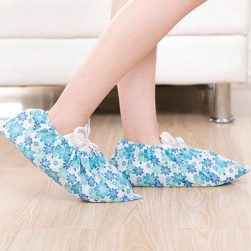 創意加厚印花無紡布鞋套 透氣防滑家用可反覆清洗鞋套
