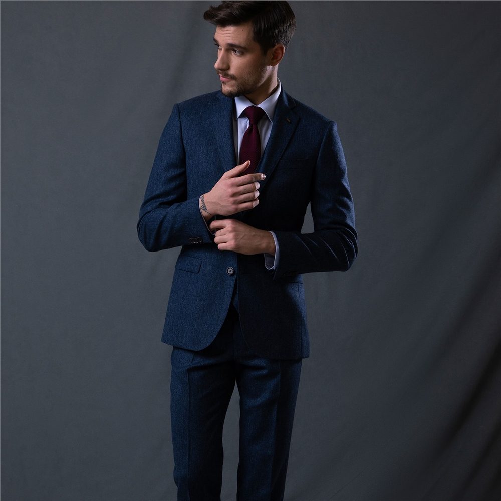 Magee 1866 Blue Donegal Tweed 3-Piece Tailored Fit Suit Jacket
