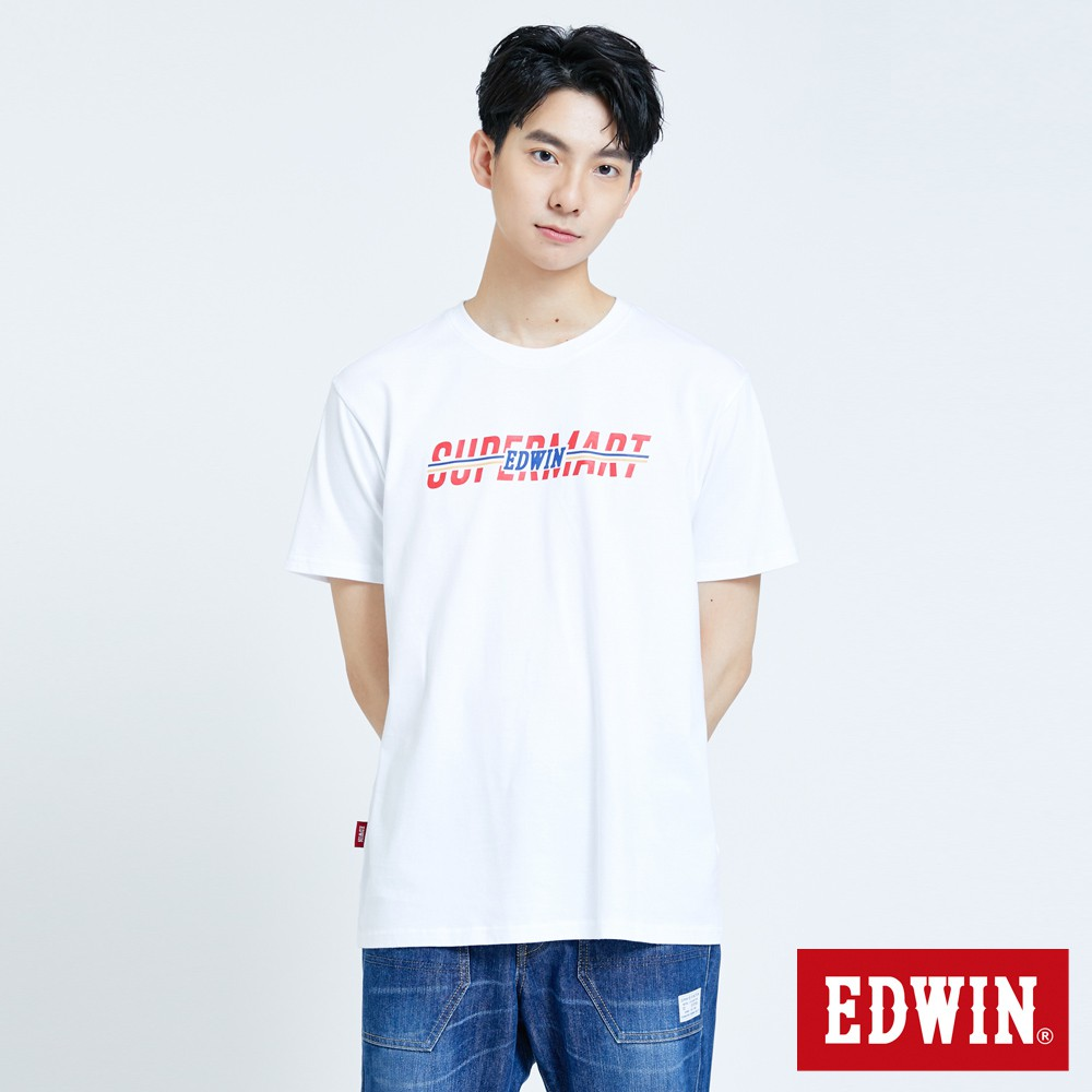 EDWIN 超市LOGO短袖T恤(白色)-男款