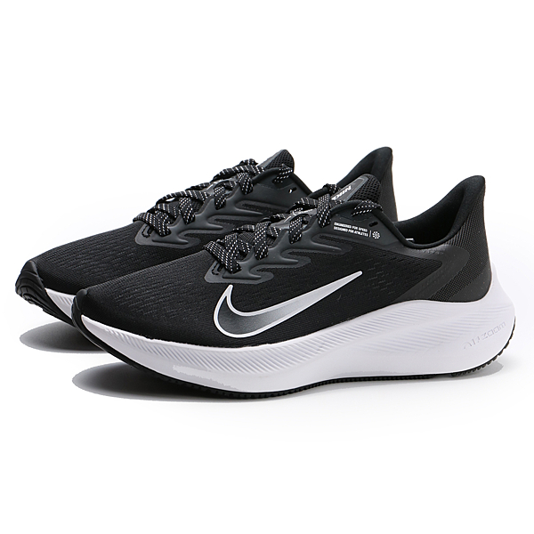 NIKE 慢跑鞋 WMNS ZOOM WINFLO 7 黑白 運動 健身 女 (布魯克林) CJ0302-005