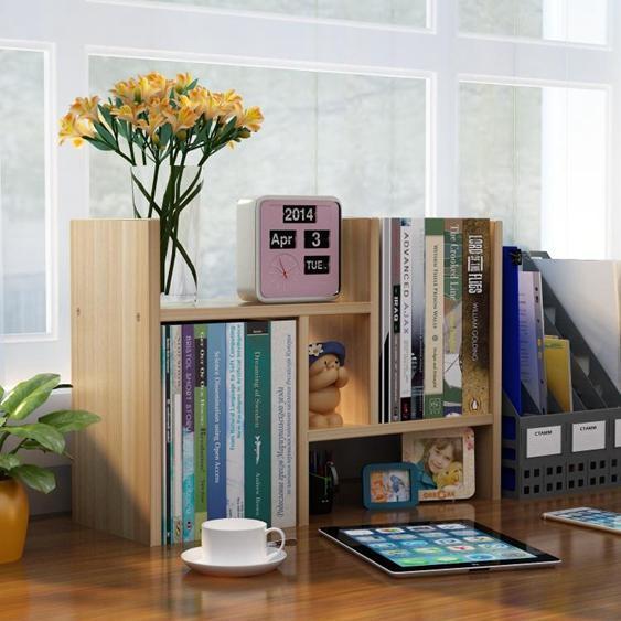 桌上書架置物架桌面兒童書櫃簡易簡約現代學生收納架辦公桌面格架