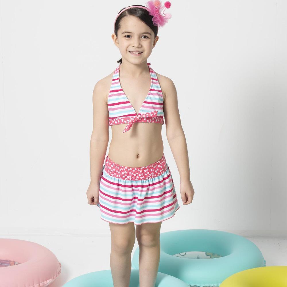 【SARBIS】女童兩截式泳裝 泡湯專用附泳帽B822003