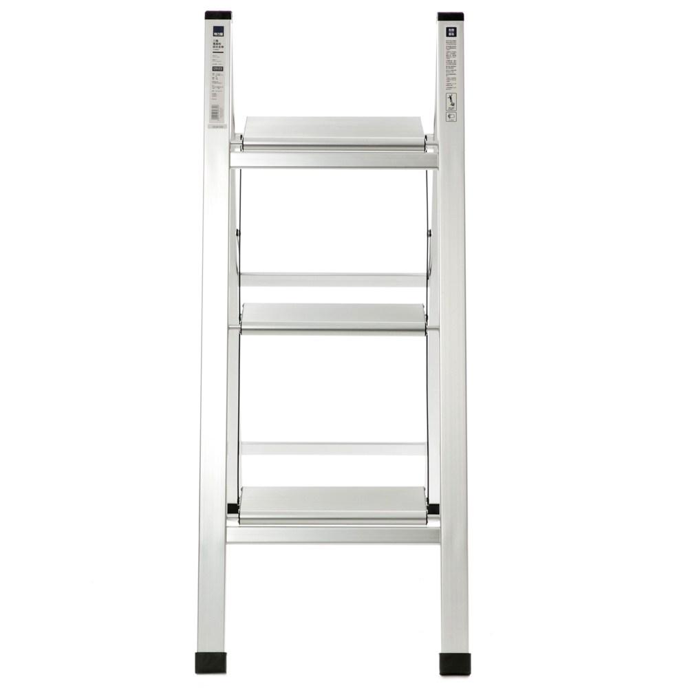 特力屋 三階寬踏板鋁合金梯