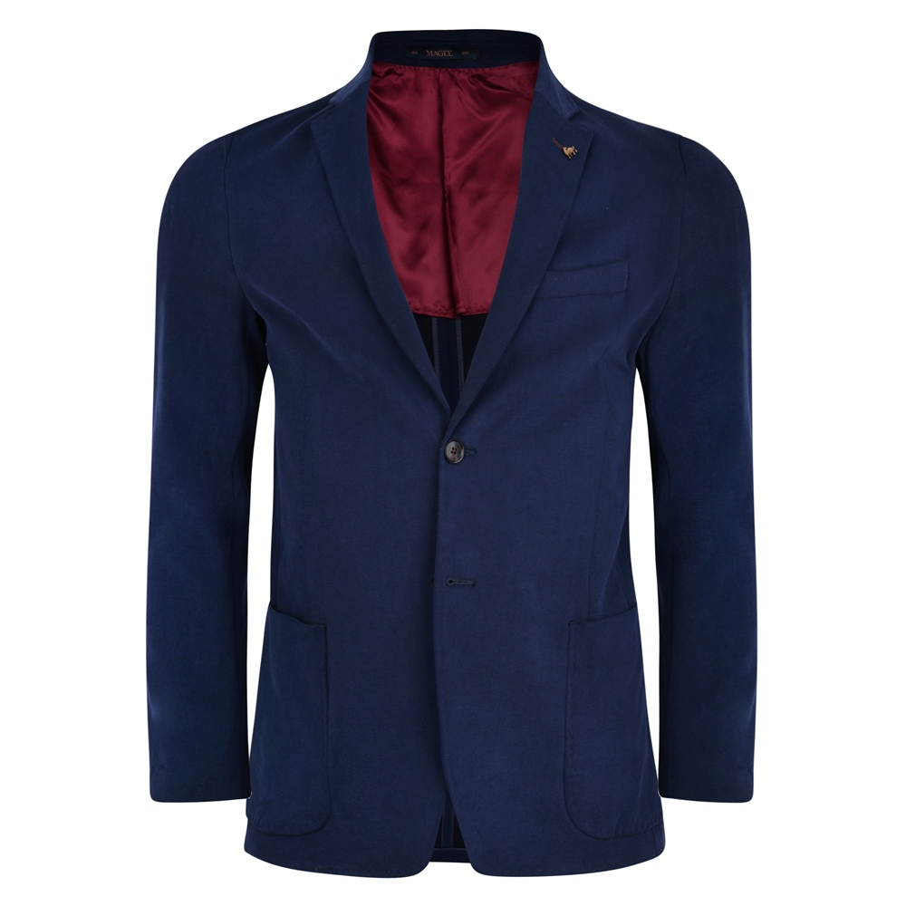 Magee 1866 Navy Gweebarra Unstructured Patch Pocket Tailored Fit Jacket