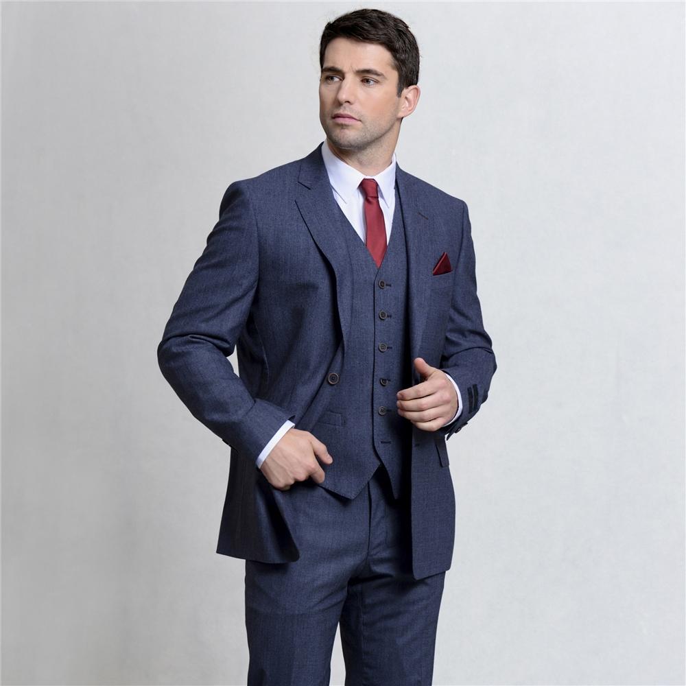Magee 1866 Blue Mix & Match 3-Piece Classic Fit Waistcoat
