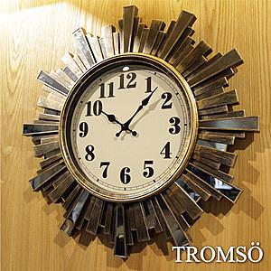 TROMSO法式香榭-雅典陽光古銅鏡飾時鐘