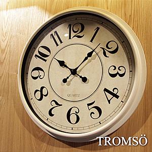 TROMSO 法式香榭 時尚大數字刷白時鐘