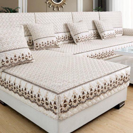 季全包布藝沙發墊四季通用防滑沙發套罩巾歐式簡約現代坐墊全蓋
