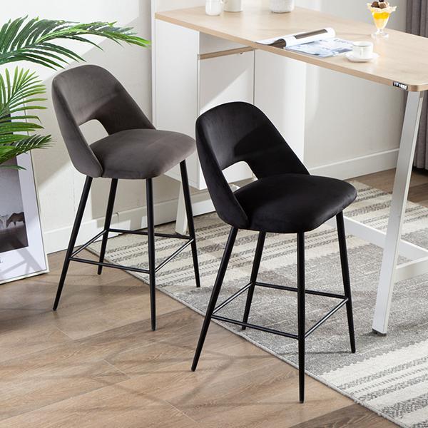 吧臺椅現代簡約金屬高腳前臺椅酒吧凳家用軟包LOFT設計師創意吧椅