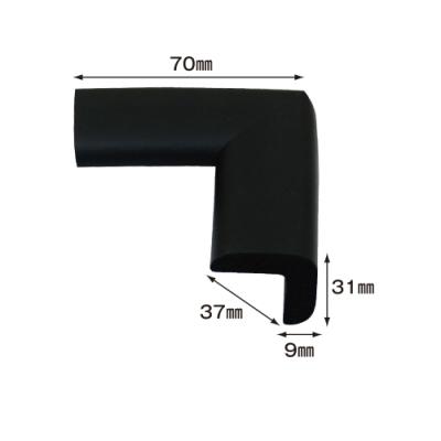 【日本CAR-BOY】尖角防護軟墊(小)(黑)(幫危險尖角加上柔軟防護)