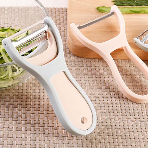 兩件套多功能削皮器 不銹鋼去皮器 蔬果削皮器 削皮刀 刮絲刀 刨絲器