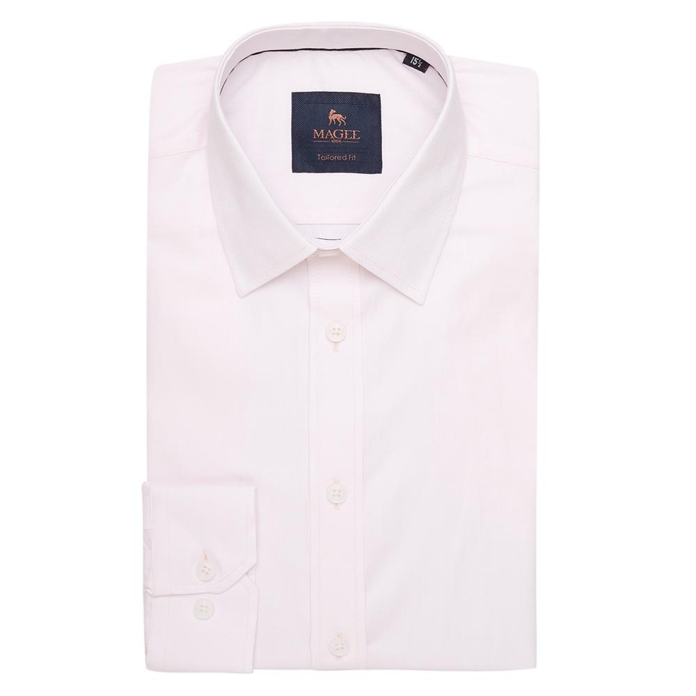 Magee 1866 Pink Altahan Jacquard Tailored Fit Shirt