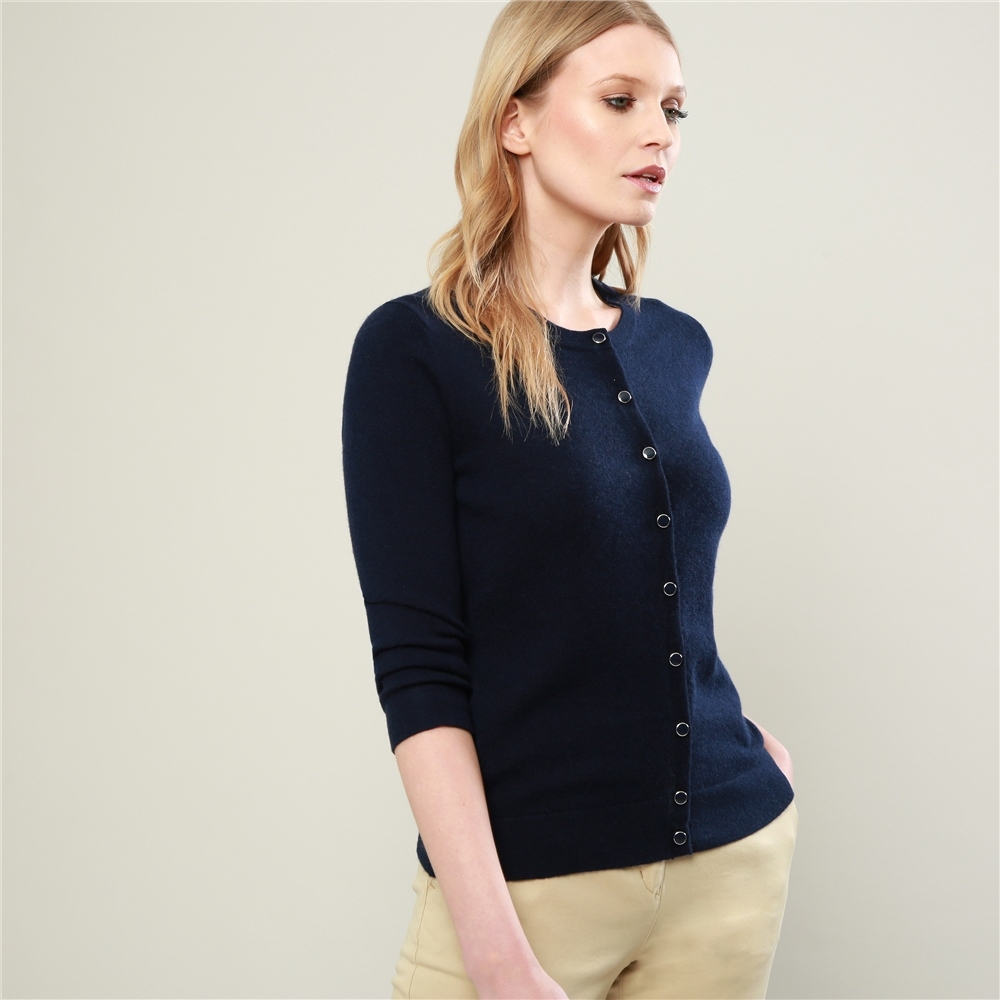 Magee 1866 Navy Beatrice Cashmere Blend Cardigan