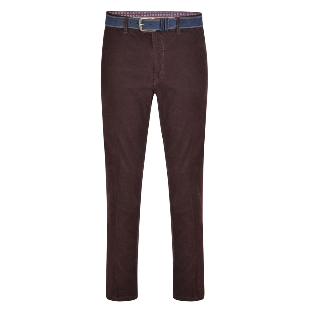 Magee 1866 Plum Dungloe Needle Cord Classic Fit Trousers