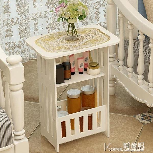 茶几 北歐茶幾簡約客廳小圓桌小戶型陽臺邊幾臥室床頭柜簡易創意方桌子