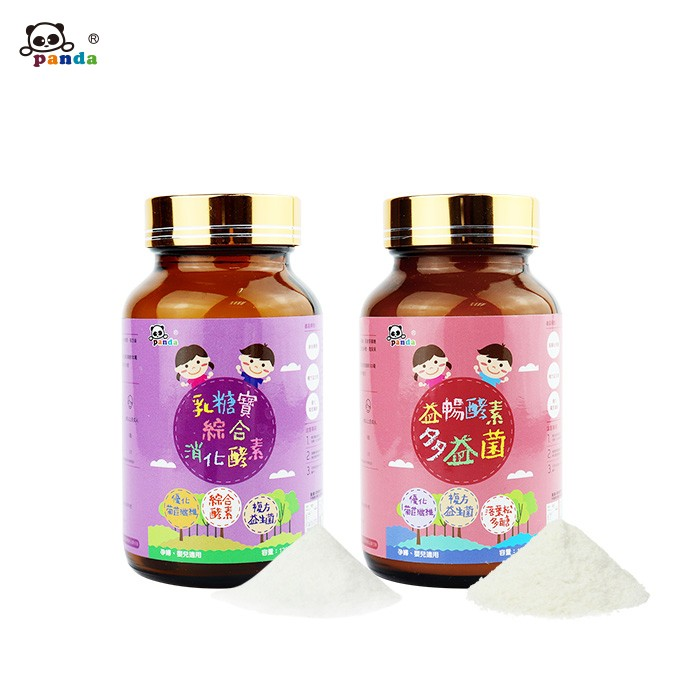鑫耀生技Panda - 消化順暢-益暢酵素多益菌+乳糖寶綜合消化酵素-120g+120g