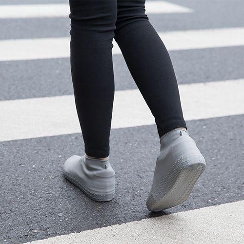 防水雨天矽膠雨鞋套 (L號) 加厚防滑耐磨防水防雨鞋套 男女通用