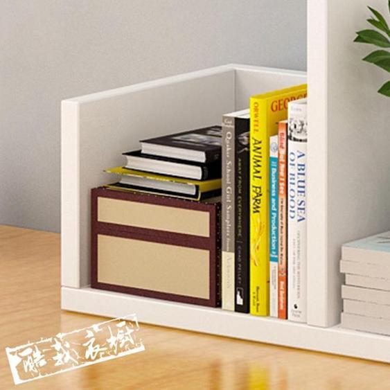 桌面收納架 億家達書架簡易桌面置物架組合書櫃簡約現代桌上架子創意櫃子
