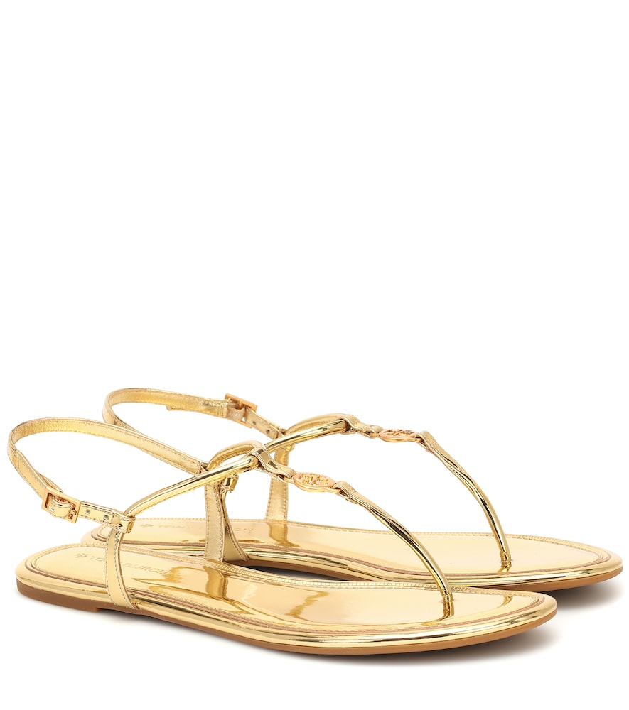Emmy patent-leather sandals