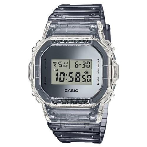 CASIO 卡西歐 G-SHOCK 半透明金屬 運動錶 DW-5600SK-1