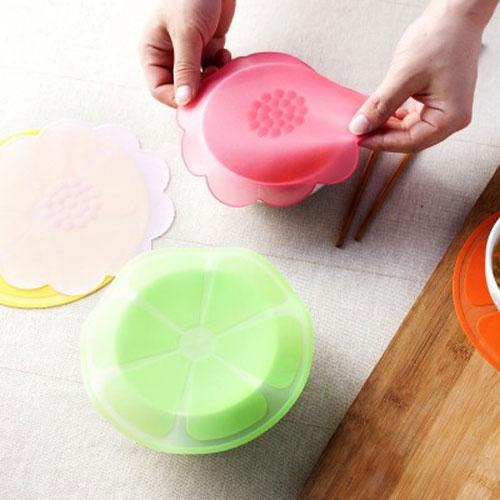 水果花型多功能矽膠保鮮膜 食品級密封保鮮蓋