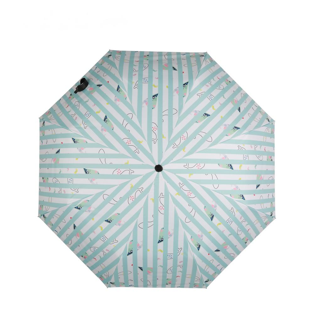 德國kobold酷波德 夢幻海洋 超輕巧抗UV防曬三折傘 藍白格調