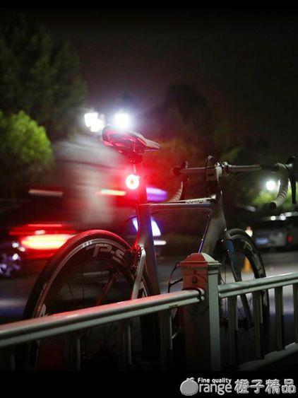 自行車尾燈夜間后警示燈USB充電山地車高亮爆閃光燈騎行裝備配件