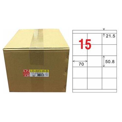 【龍德】A4三用電腦標籤 50.8x70mm 白色1000入 / 箱 LD-883-W-B