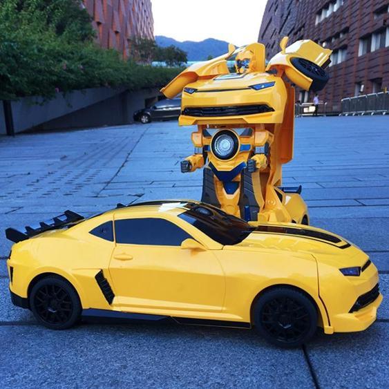 美致感應變形遙控汽車賽車金剛機器人充電動兒童玩具車男孩遙控車