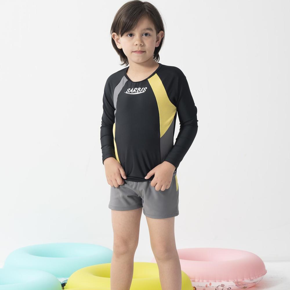 【SARBIS】兒童兩截式長袖防曬泳裝附泳帽B662005