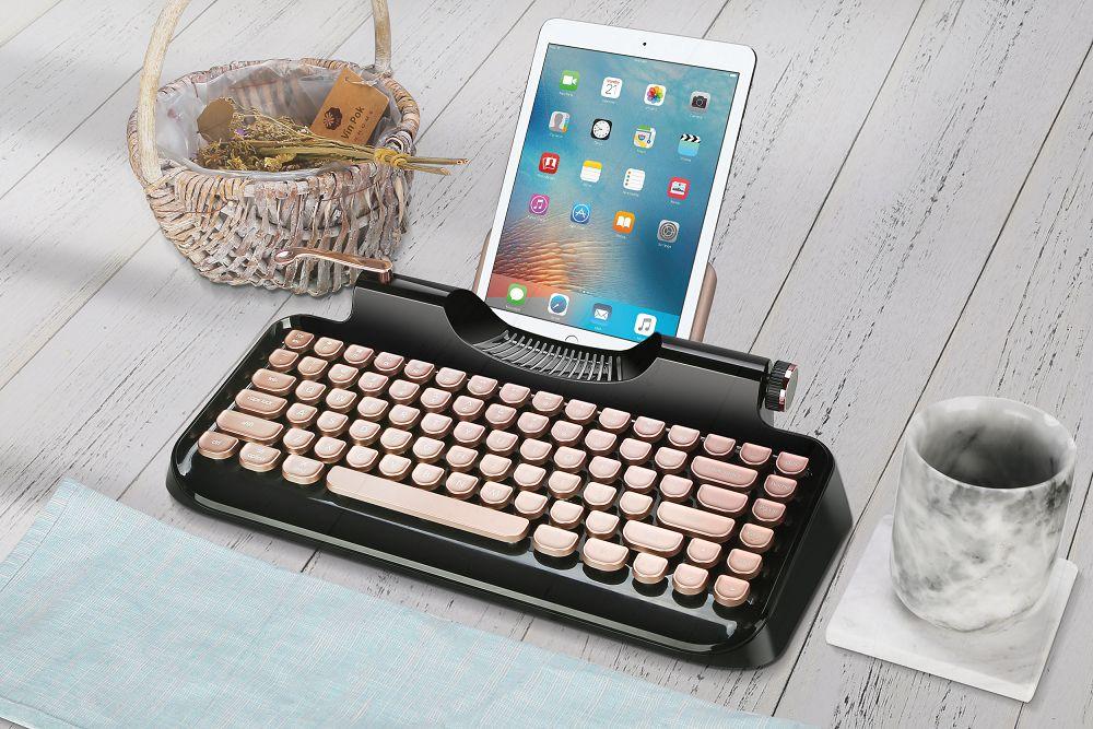 *完美結合打字機的典雅及現代鍵盤科學*KnewKey Rymek復古藍芽機械鍵盤