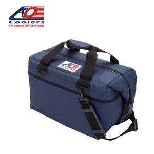 【AO COOLERS】軟式輕量保冷托特包-24罐型經典帆布-海軍藍