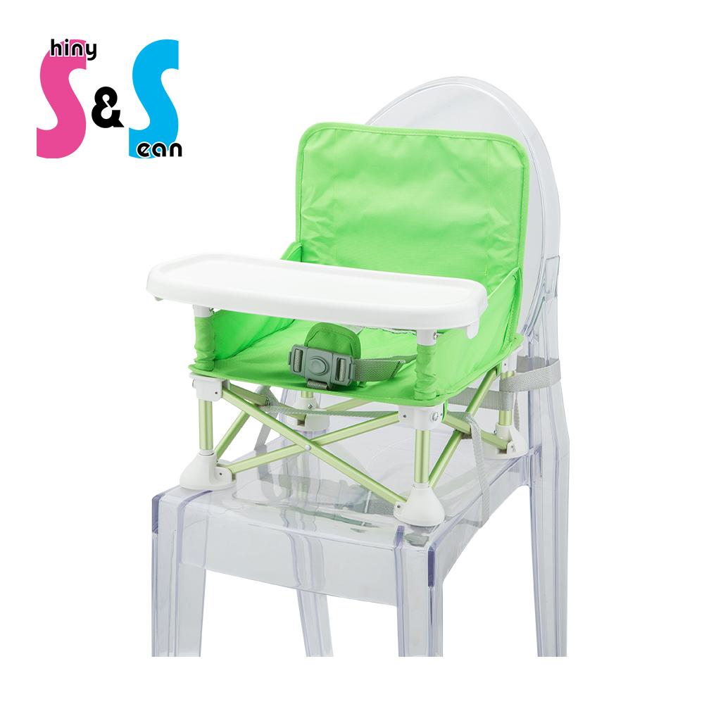S&S 摺疊式兒童餐椅(兩色可選)
