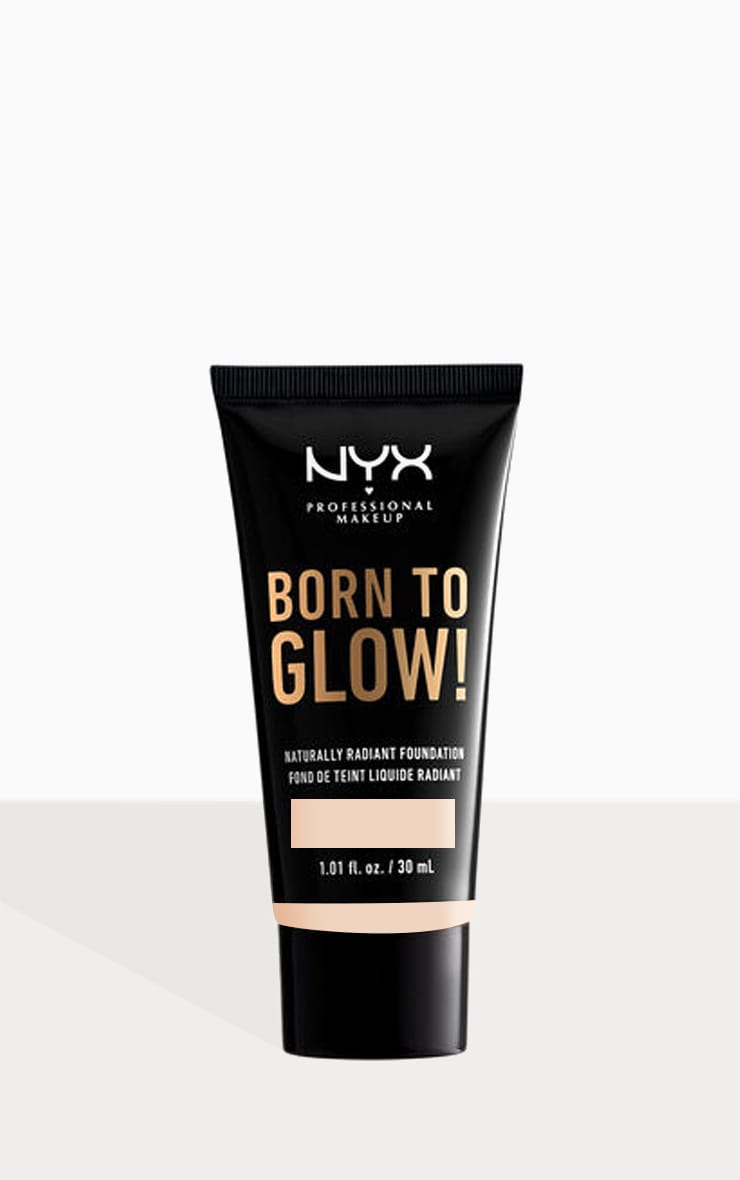 NYX PMU Born To Glow Naturally Radiant Foundation Alabaster 30ml