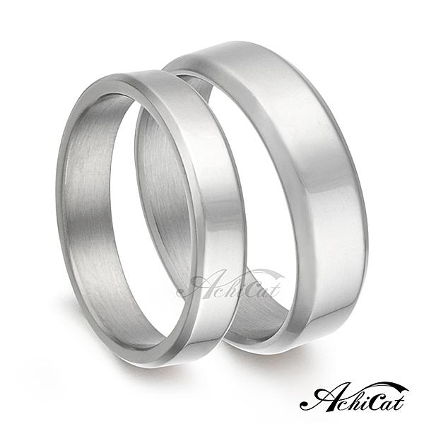 AchiCat 情侶對戒 白鋼戒指 簡單幸福 素面對戒 送刻字 單個價格 A482