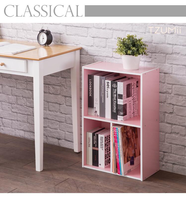 tzumii 亞瑟三格收納櫃-粉紅色
