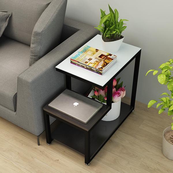現代簡約小茶幾邊角桌客廳迷你角櫃沙發邊櫃玻璃邊幾角幾臥室邊桌 夏洛特居家名品