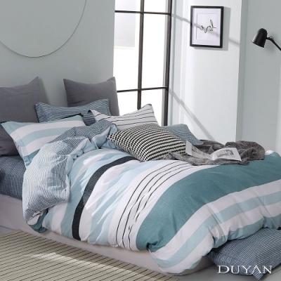 DUYAN竹漾-100%精梳純棉-單人床包二件組-沐森見晴 台灣製