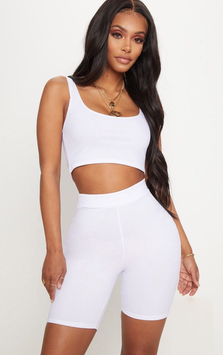 Shape White Mesh Bike Shorts