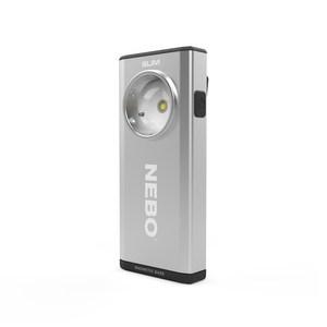【NEBO】SLIM 超薄型充電可調光LED燈-鉑金銀