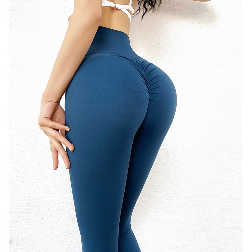 MOVING PEACH 女運動長褲高腰蜜桃提臀菊花瑜伽褲歐美ins緊身褲窄管訓練健身壓力褲 ALS