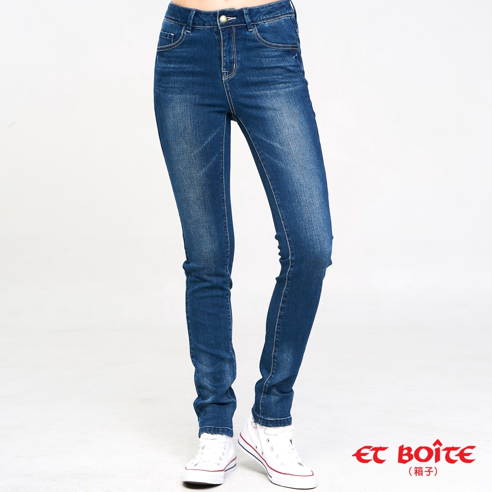 BLUE WAY ET BOiTE 箱子-繩股帶花高腰直筒褲
