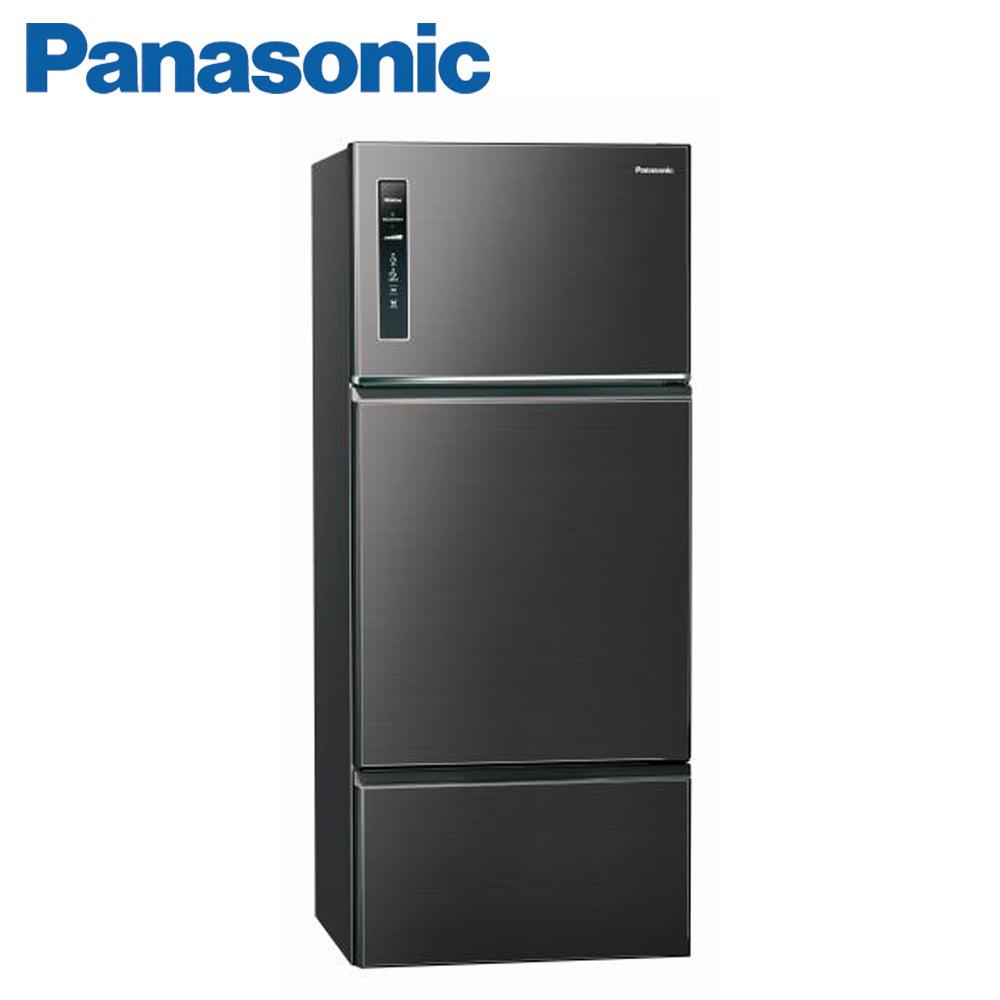 (快倉)Panasonic國際牌481公升三門冰箱(NR-C489TV-A)-星耀黑