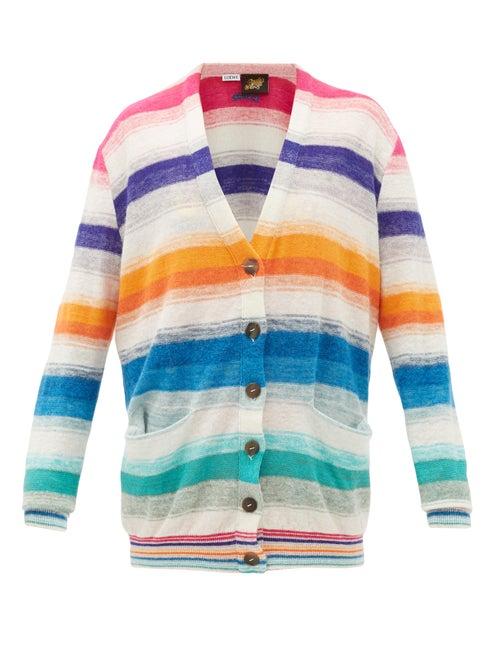 Loewe Paula's Ibiza - Striped Melange Sweater - Womens - Multi