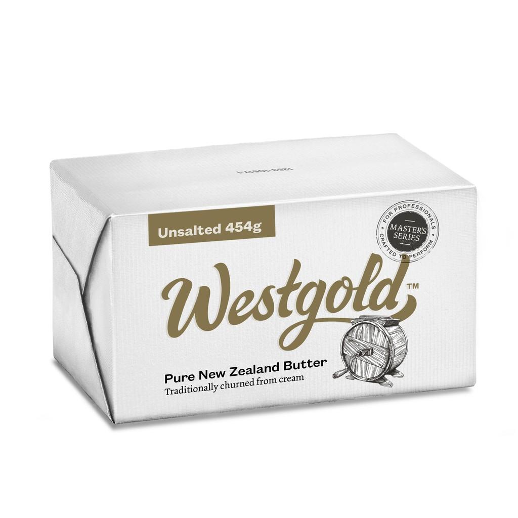 【德麥食品】紐西蘭 德紐westgold 磅裝黃金奶油 草飼奶油 有鹽/無鹽 454g