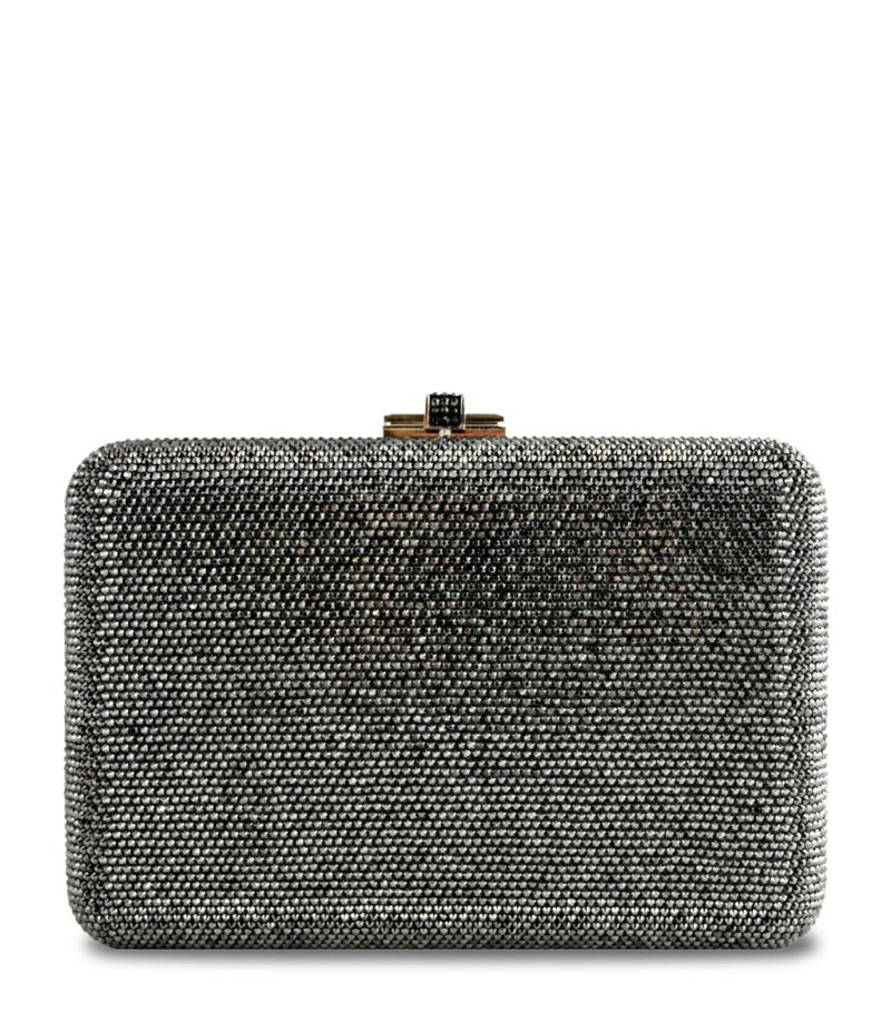 Judith Leiber Crystal Slim-Side Clutch Bag