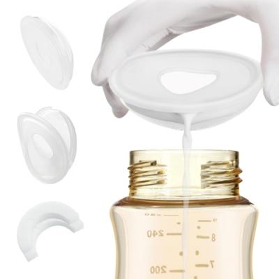 colorland【2盒4入】手動母乳矽膠集乳器+防溢乳墊 吸奶器溢漏奶接奶器