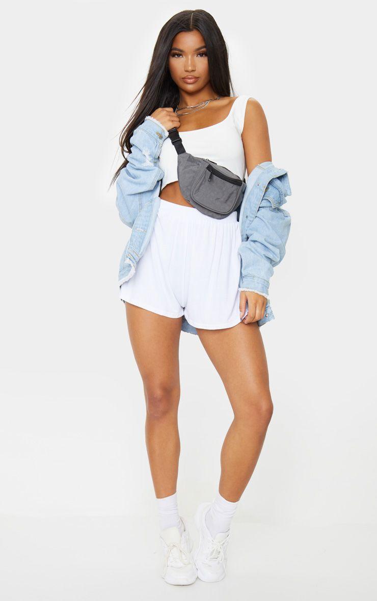 Lucilla White Jersey Floaty Shorts