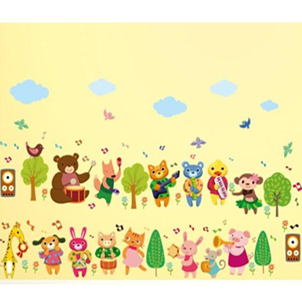 動物派對 歡樂森林 SK7143新款壁貼 兒童房 室內佈置 居家裝飾【YV0628-1】BO雜貨